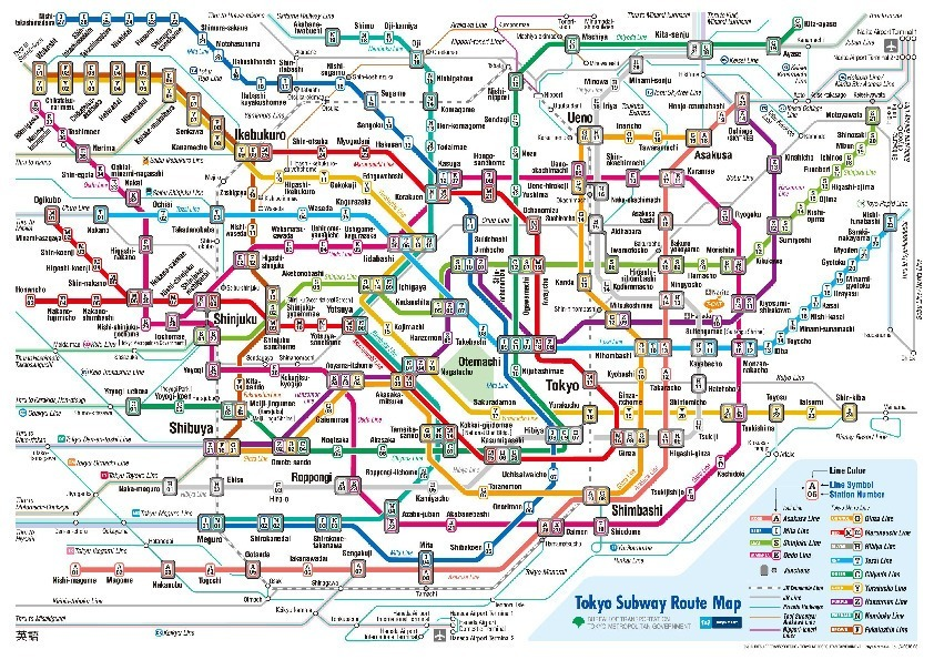 public transport map thumbnail of Tokyo
