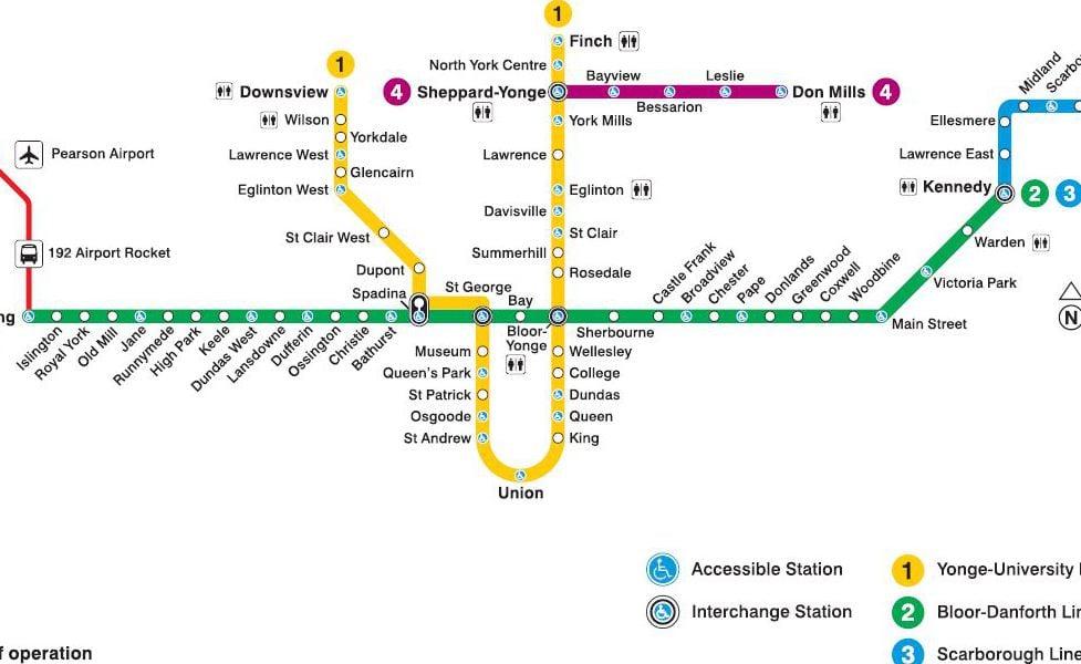 mapa en miniatura del sistema de transport públic <ARTICLE_D&&>Toronto
