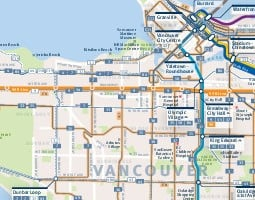 Vancouver Public Transport Map