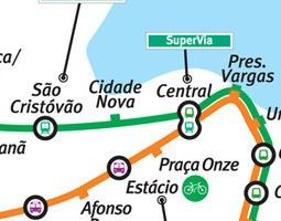 Rio de Janeiro Public Transport Map