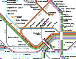 Frankfurt Public Transport Map