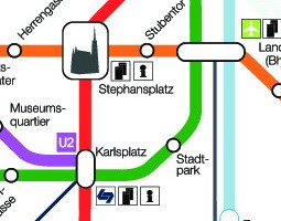 Peta pengangkutan awam Vienna