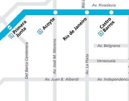 Mapa de transporte público de Buenos Aires
