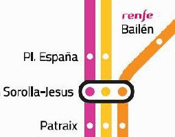 Valencia Public Transport Map