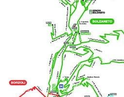 خريطة وسائل النقل العام في جنوة