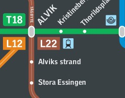 Stockholm Karta över kollektivtrafik