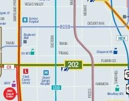 Las Vegas Public Transport Map