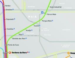 Peta pengangkutan awam Porto