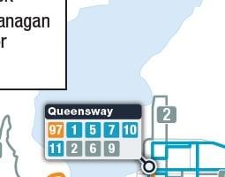 Kelowna Public Transport Map