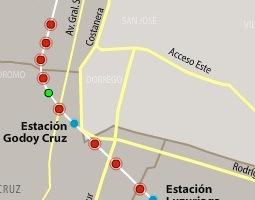 Mapa verejnej dopravy – Mendoza