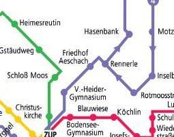 Линдау Карта на обществения транспорт