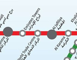 Dubai - karta javnog prijevoza