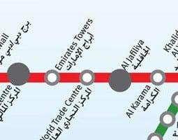 Dubai Karta över kollektivtrafik