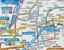 Карта общественного транспорта: Марсель
