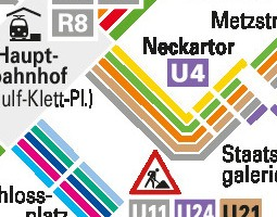 Stuttgart Public Transport Map