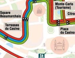 蒙特卡洛公共交通地图