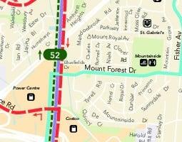 Карта общественного транспорта: Берлингтон