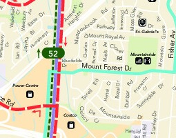 Mapa verejnej dopravy – Burlington