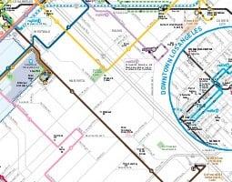 Mapa verejnej dopravy – Santa Monica