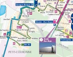 Руан Карта на обществения транспорт