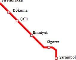 Mapa de transporte público de Antalya