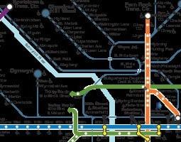 Philadelphia Mappa dei trasporti pubblici