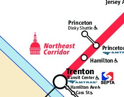 Jersey City Public Transport Map