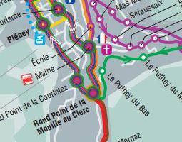 Morzine (Alpes) Public Transport Map