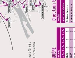 アンボワーズ公共交通機関地図