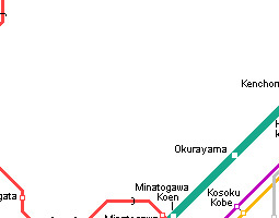 Kobe Public Transport Map