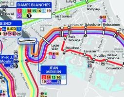 خريطة وسائل النقل العام في لاروشيل