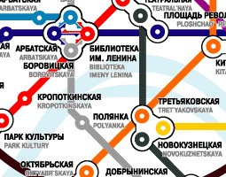 Moscow Public Transport Map