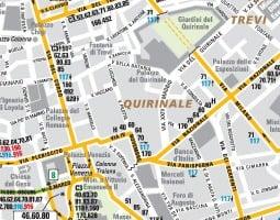 Rom Karta över kollektivtrafik
