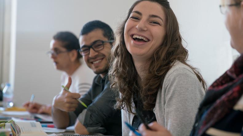 Studying together at Augsburger Deutschkurse