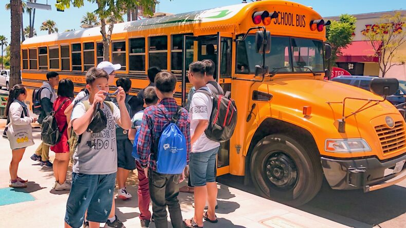 Making friends at California Language Academy