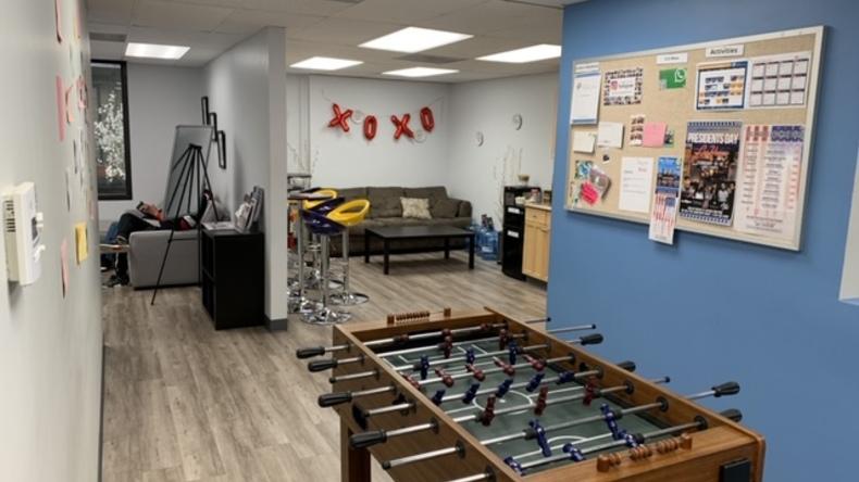 California Language Academy games room