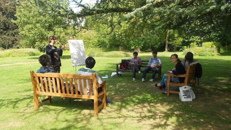 Students enjoying Oxford