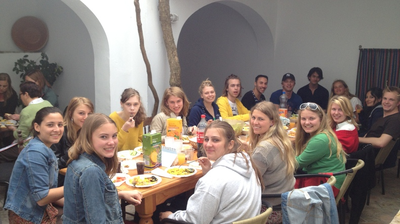 Socialising at Colegio de Español La Janda