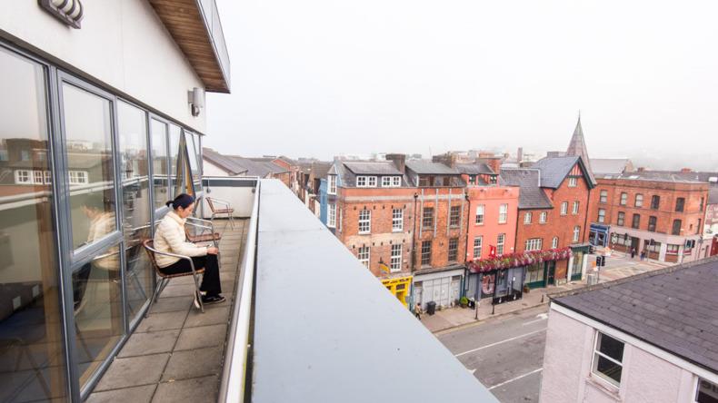 Cork English Academy balcony