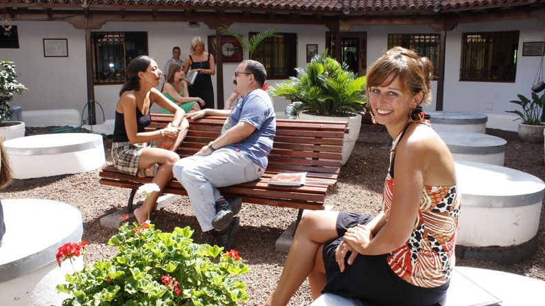 Don Quijote outdoor area