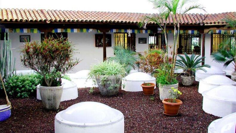 School courtyard