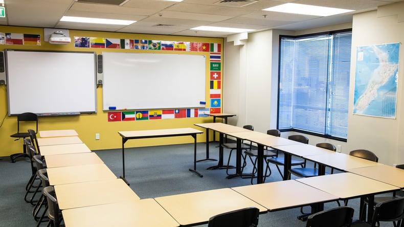 Embassy English classroom
