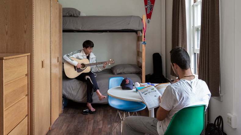 Students at the accommodation
