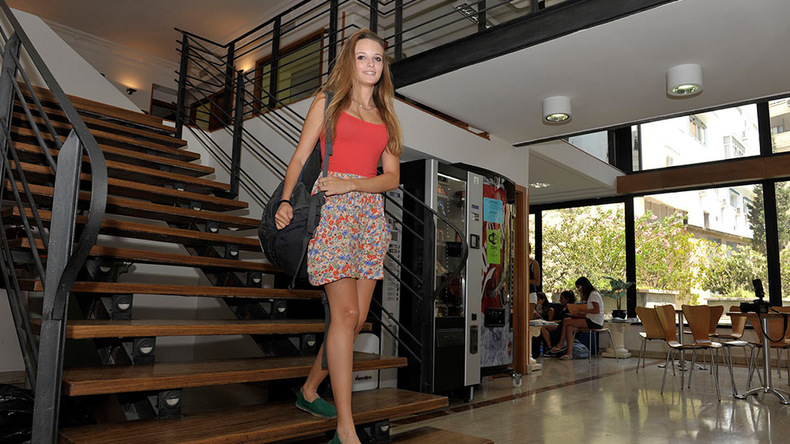School staircase