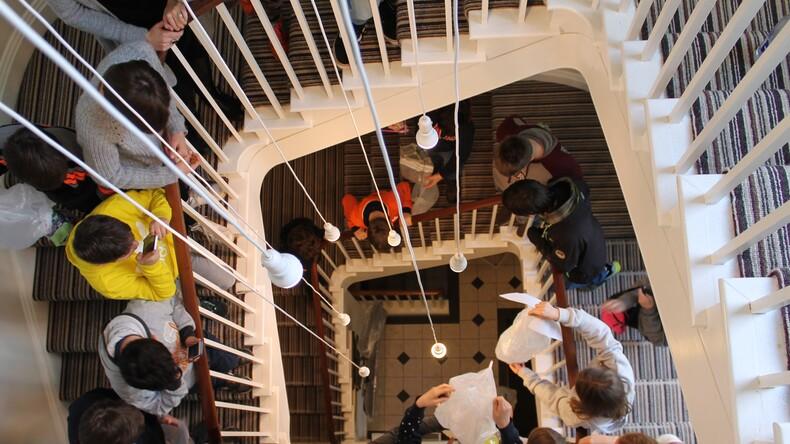 English in Totnes stairway