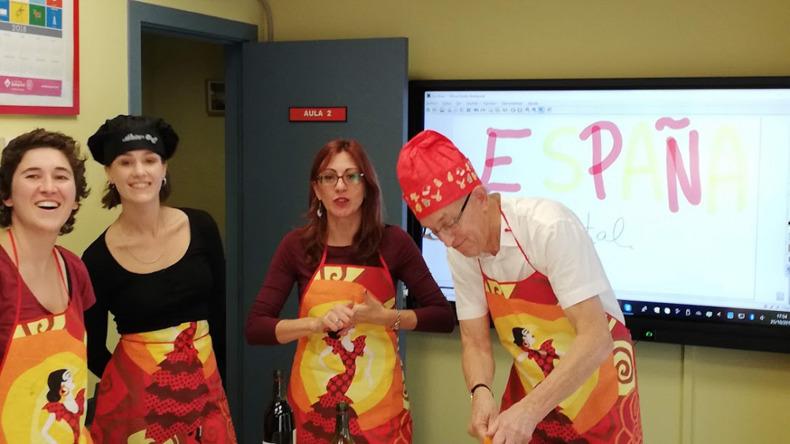 Cooking lesson at Estudio Sampere