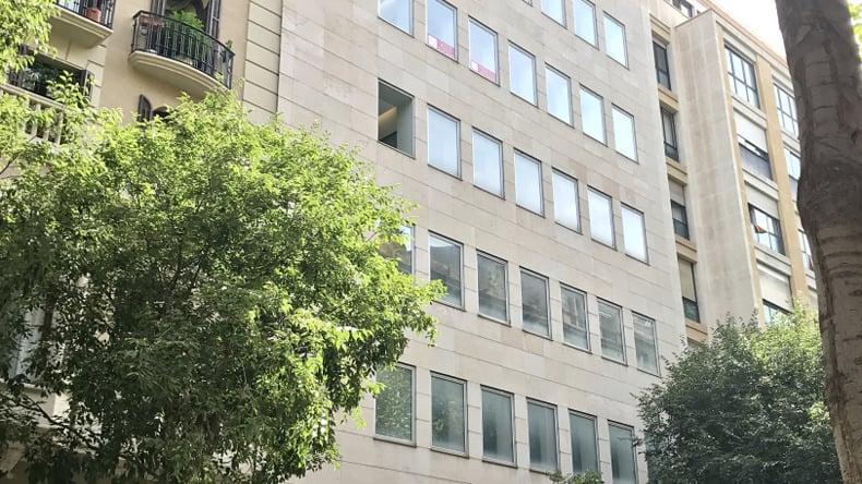 Expanish Barcelona school building