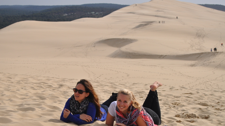 Enjoying the dunes