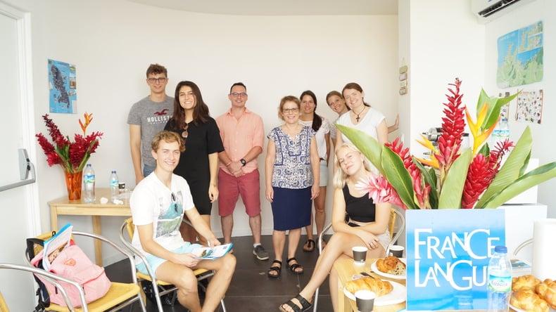 France Langue students