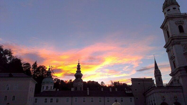 Sunset in Salzburg